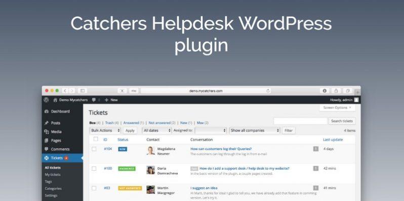 Catchers Helpdesk WordPress Plugin: Catch Your Client's Dreams