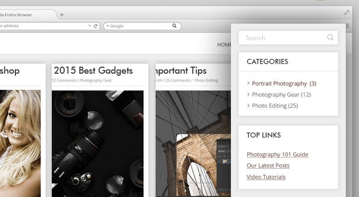 Here's How Your Sidebar Probably Looks Without Clever Widgets