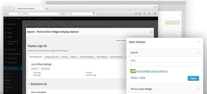 The Clever Widgets plugin works and integrates with the default widgets options in WordPress.