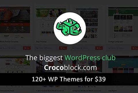 WordPress Themes & Plugin Deals - Grab this mega-deal from CrocoBlock.