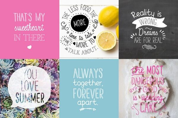 The hipster fonts bundle will make your designs unique and stand out.