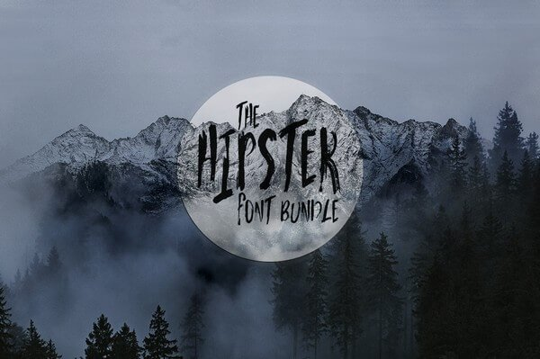 Today we bring you The Hipster Fonts Bundle.