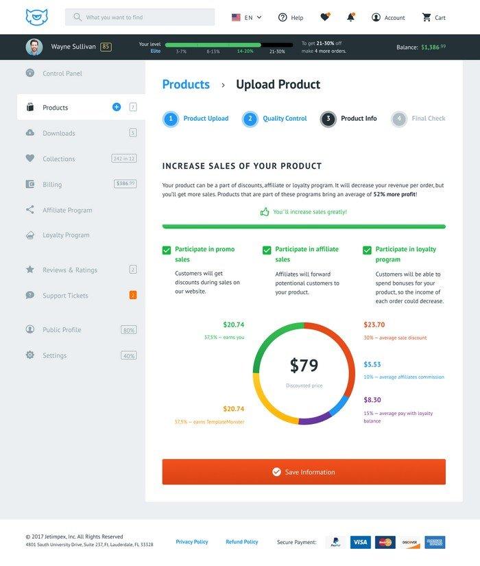 TemplateMonster Vendor Loyalty Program