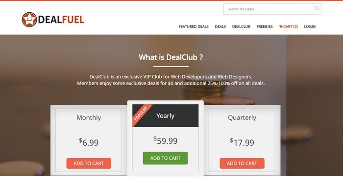 Become an exclusive member of DealFuel by joining the DealClub.