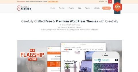 8DegreeThemes WordPress Themes