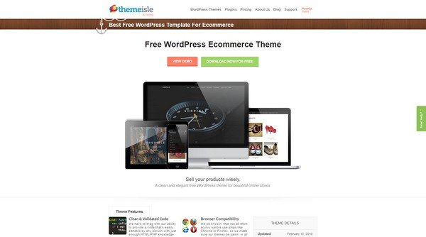 ShopIsle is one of the most preferred and an elegant free WordPress theme..