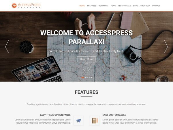 AccessPress Parallax is a beautiful WordPress theme with the 3D abled Parallax design.