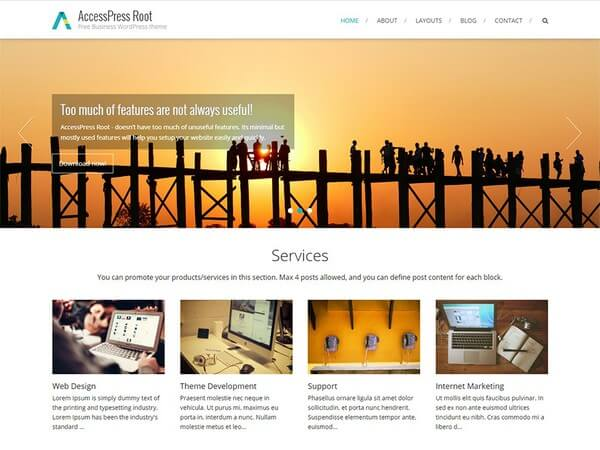 AccessPress Root is another simple, dynamic and functional theme from AccessPress Themes.