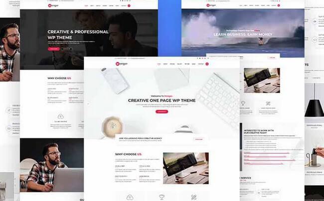Monger is a stylish One Page WordPress theme.