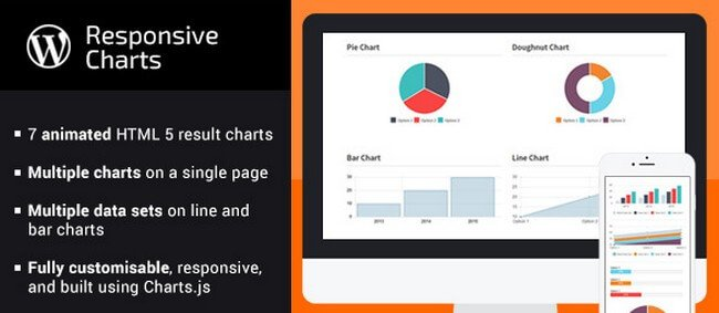 Responsive Charts is a full-featured charting tool based on the Charts.js library.