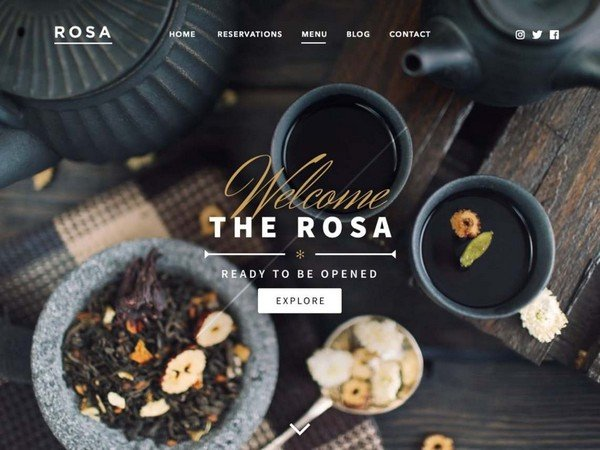 Rosa Lite is a free restaurant WordPress theme from Pixelgrade