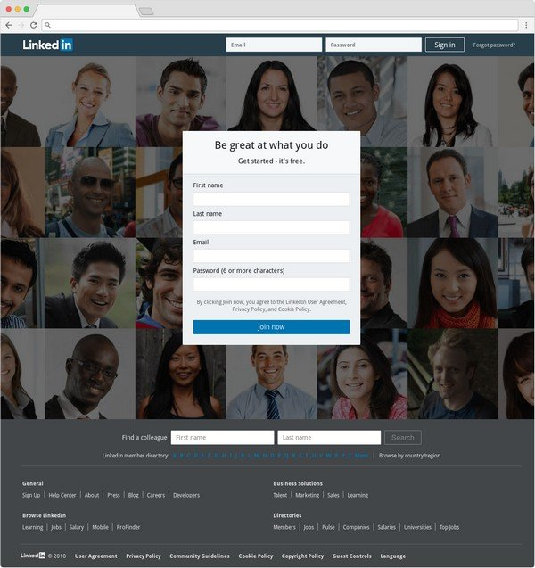 LinkedIn is used by 65% of business-to-business organizations.