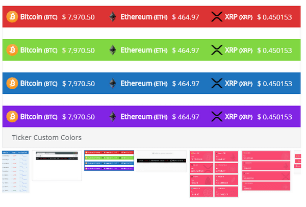 Premium Cryptocurrency Widgets for WordPress is a pluign that offers multiple widgets.