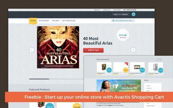 Avactis is a shopping cart has been designed with PHP.