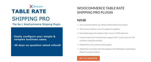WooCommerce Table Rate Shipping Pro helps you set up shipping rules to calculate rates.