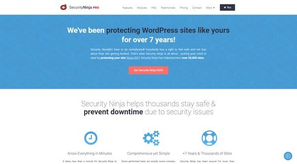 Security Ninja is a WordPress security plugin.