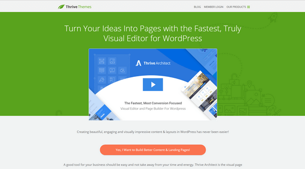Thrive Architect is one of the best tools to help you to increase conversion.