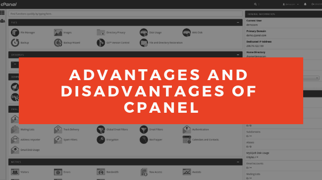 cPanel Advantages and Disadvantages