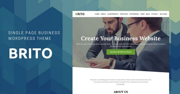 Brito - A One-Page WordPress Theme fo Business.