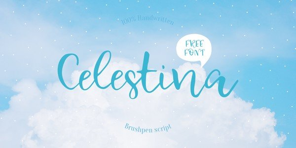 Amazing Freebies From Pixelo - Celestina is a elegant handwritten font with smooth and rounded letters.