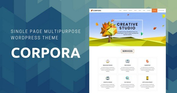Corpora - A Multipurpose Beginner WordPress Theme.