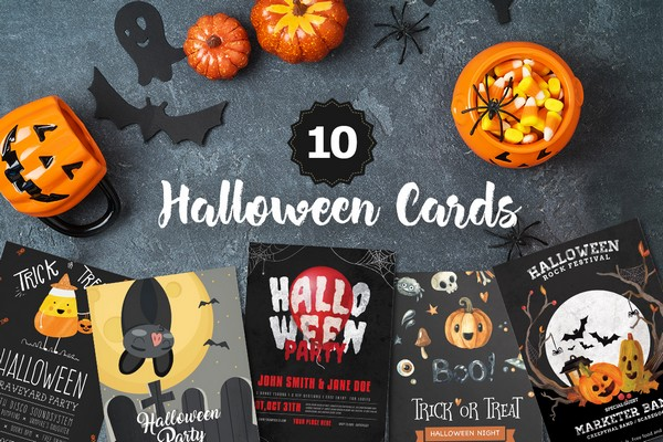 Halloween card bundle includes 36 Halloween cards.
