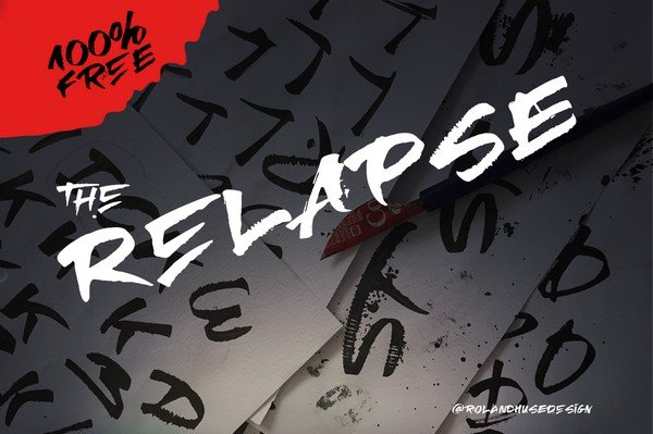 Relapse is a font perfect for statement tees, packaging and posters.