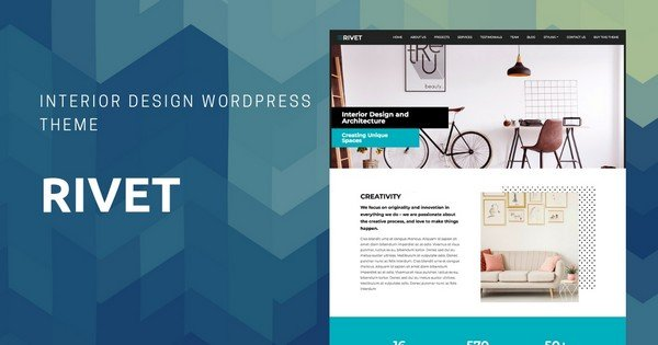 Rivet - A One-Page Interior WordPress Theme.