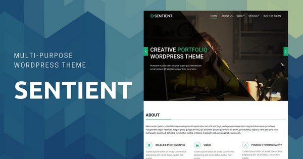 Sentient - A Premium Multipurpose, Multi-page WordPress Theme