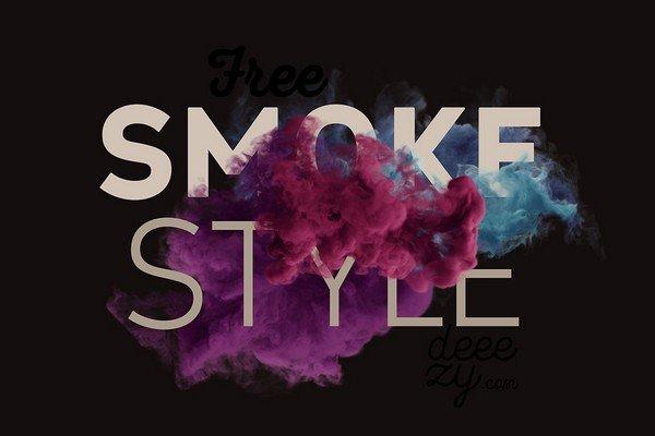 Smoke Scene Mock-up - A smoke scene mock-up freebie.