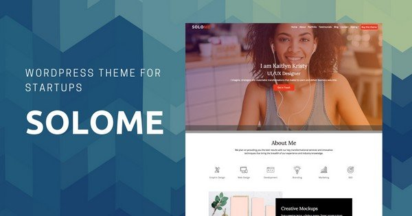 Solome - An elegant startup WordPress Theme.