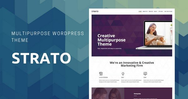Strato - A Multipurpose WordPress Theme.