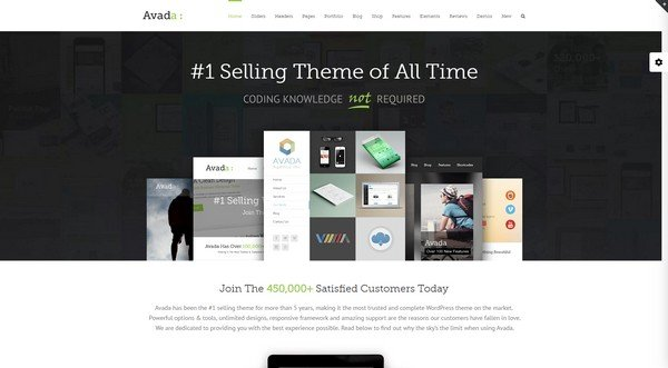 Avada is one of the best-selling WordPress themes.