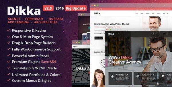 Dikka is a versatile WordPress theme for technology-oriented startups.