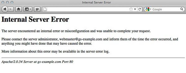 Internal server error is a common WordPress problem.