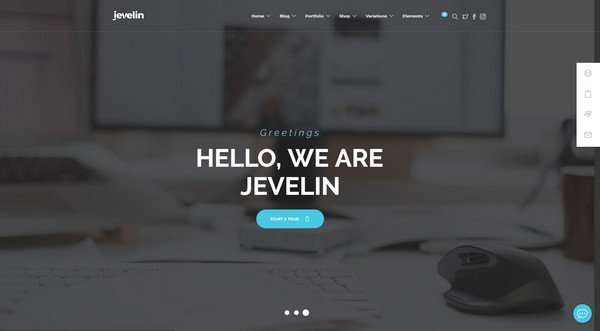 Jevelin is a versatile theme with several layout options.
