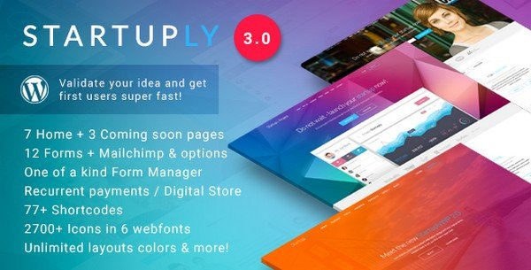 Startuply is an elegant WordPress theme perfect for tech-related startups.