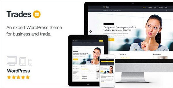 Trades is a WordPress theme built with a built-in flexible framework.