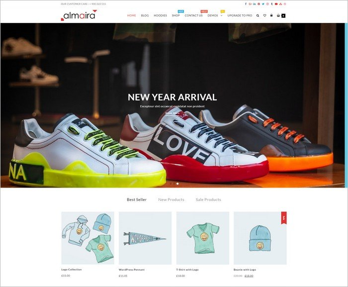 Almaira Shop is a WooCommerce theme from ThemeHunk.