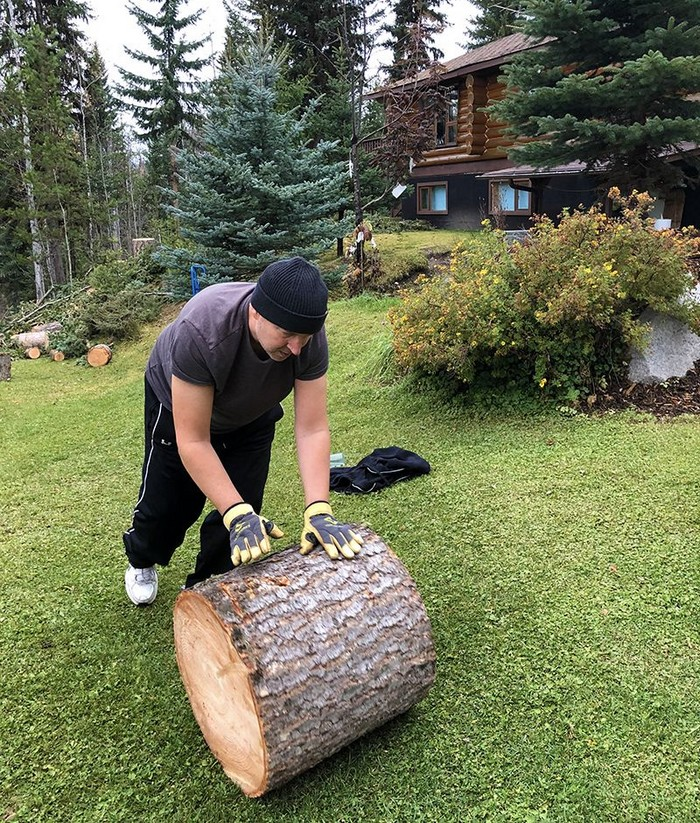 There are still home duties to attend to, whether it's cleaning, splitting firewood, landscaping, shoveling snow.
