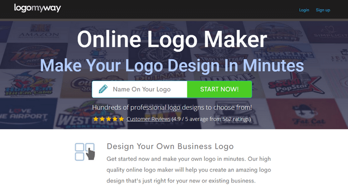 You can use online software that lets you make your own logo.