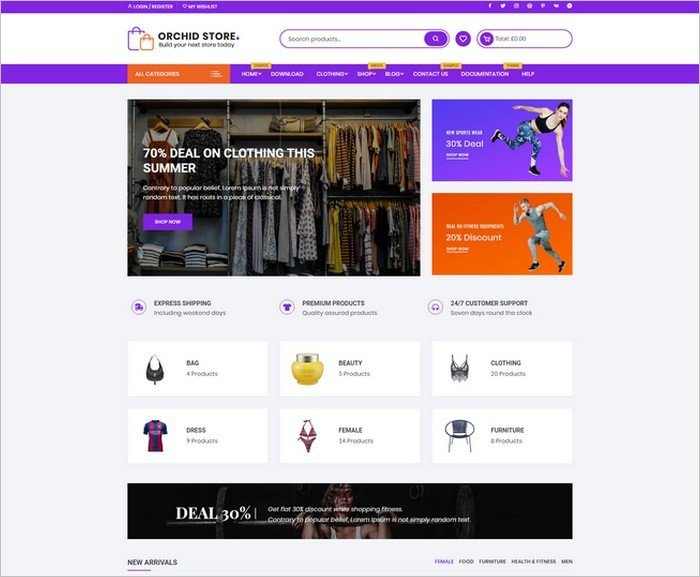 Orchid Store is a free WooCommerce WordPress theme from themebeez.
