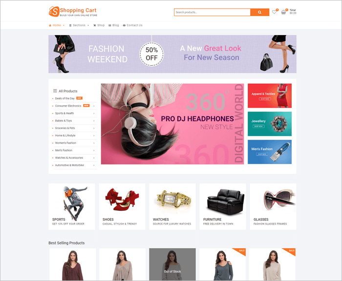 Shopping Cart is a creative ecommerdce theme by Theme Freesia.