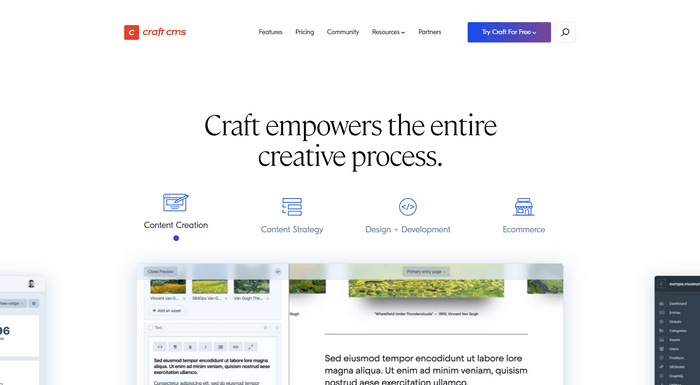 Craft CMS is a user-friendly CMS that offers you custom digital experiences for your website.