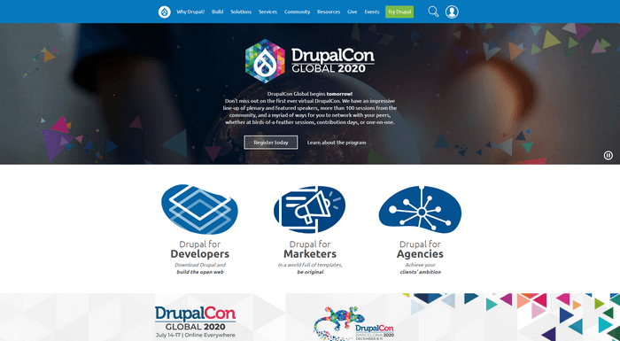 Drupal is a popular open-source content management system.