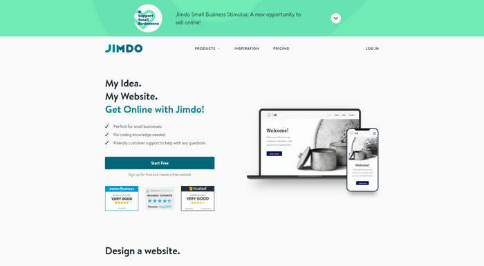 Best CMS WordPress Alternatives - Jimdo is a website-builder and also offers you an all-in-one hosting solution as well.