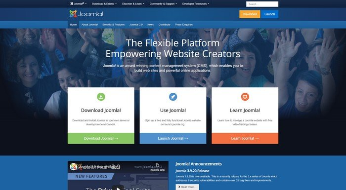 Best CMS WordPress Alternatives - Joomle is one of the most robust system software available in the market.