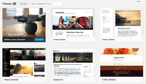 Your website theme influences your site's overall appearance and layout.