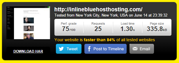 Bluehost site speed