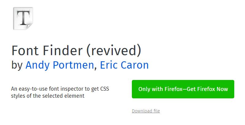 Font Finder (revived) extension